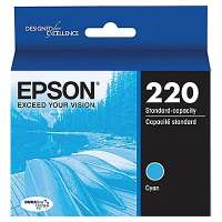Epson 220, T220220 OEM ink cartridge, cyan