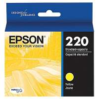 Epson 220, T220420 OEM ink cartridge, yellow