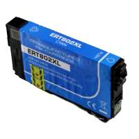 Remanufactured Epson T802XL220 (802XL) inkjet cartridge - high capacity cyan