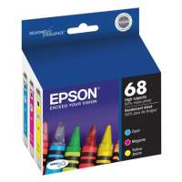 Epson 68 OEM ink cartridges, 3 pack