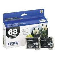 Epson 68 OEM ink cartridges, 2 pack