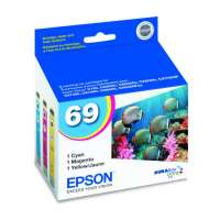 Epson 69 OEM ink cartridges, 3 pack