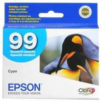 Epson 99, T099220 OEM ink cartridge, cyan