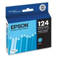 Epson 124, T124220 OEM ink cartridge, cyan