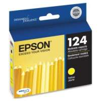 Epson 124, T124420 OEM ink cartridge, yellow