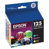 Epson 125 OEM ink cartridges, 3 pack
