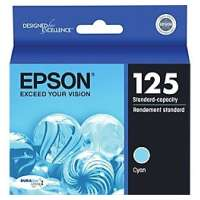 Epson 125, T125220 OEM ink cartridge, cyan