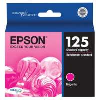 Epson 125, T125320 OEM ink cartridge, magenta