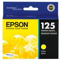 Epson 125, T125420 OEM ink cartridge, yellow