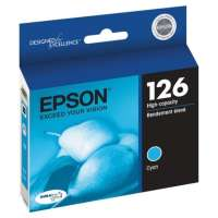 Epson 126, T126220 OEM ink cartridge, high yield, cyan