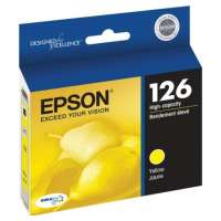 Epson 126, T126420 OEM ink cartridge, high yield, yellow