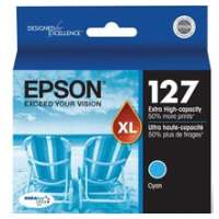 Epson 127, T127220 OEM ink cartridge, extra high yield, cyan