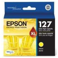 Epson 127, T127420 OEM ink cartridge, extra high yield, yellow