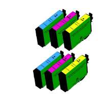 Remanufactured Epson 252XL ink cartridges, high yield, 6 pack