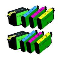 Remanufactured Epson 252XL ink cartridges, high yield, 8 pack