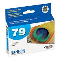 Epson 79, T079220 OEM ink cartridge, high yield, cyan