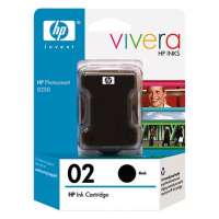 HP 02, C8721WN OEM ink cartridge, high yield, black