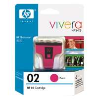 HP 02, C8772WN OEM ink cartridge, high yield, magenta