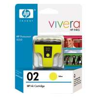 HP 02, C8773WN OEM ink cartridge, high yield, yellow