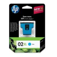HP 02XL, C8730WN OEM ink cartridge, high yield, cyan