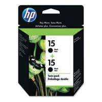 HP 15, C6653FN OEM ink cartridges, black, 2 pack