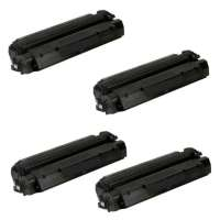 Compatible HP C7115X (15X), Q2613A (13A), Q2624A (24A), Canon EP-25 pack of 4 toner cartridges