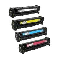 Compatible HP 201X, CF400X, CF401X, CF403X, CF402X toner cartridges, 4 pack