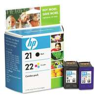 HP 21, 22, C9509FN OEM ink cartridges, 2 pack