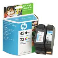 HP 45, 23, C8790FN OEM ink cartridges, 2 pack