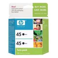 HP 45, C6650FN OEM ink cartridges, black, 2 pack