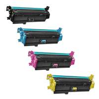 Remanufactured HP 508X, CF360X, CF361X, CF362X, CF363X toner cartridges, 4 pack