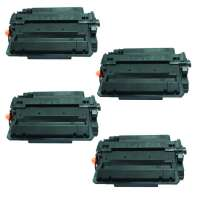 Compatible HP CE255X (55X) toner cartridges - 4-pack