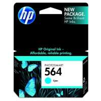 HP 564, CB318WN OEM ink cartridge, cyan