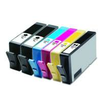 Remanufactured HP 564XL ink cartridges, high yield, 6 pack