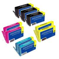 Remanufactured HP 564XL ink cartridges, high yield, 9 pack