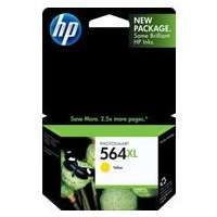 HP 564XL, CB325WN OEM ink cartridge, high yield, yellow