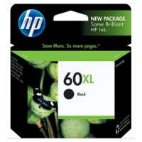HP 60XL, CC641WN OEM ink cartridge, high yield, black