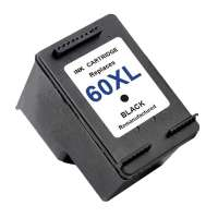 Remanufactured HP 60XL, CC641WN ink cartridge, high yield, black