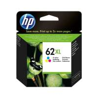 HP 62XL, C2P07AN OEM ink cartridge, high yield, tri-color