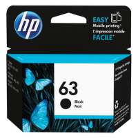 Genuine Original HP F6U62AN (HP 63) ink cartridge - black
