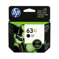 Genuine Original HP F6U64AN (HP 63XL) ink cartridge - high capacity (high yield) black