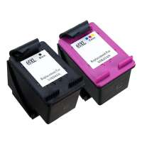 Remanufactured HP 65XL ink cartridges, high yield, 2 pack