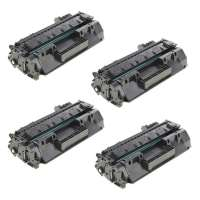 Compatible HP CF280X (80X) toner cartridges - JUMBO (extra high) capacity - 4-pack