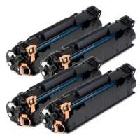 Remanufactured HP 85A, CE285A toner cartridges, 4 pack