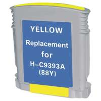 Remanufactured HP 88XL, C9393AN ink cartridge, high yield, yellow