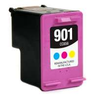 Remanufactured HP 901, CC656AN ink cartridge, tri-color