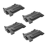 Compatible HP CE390X (90X) toner cartridges - 4-pack