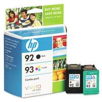 HP 92, 93, C9513FN OEM ink cartridges, 2 pack