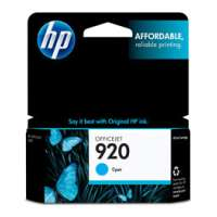 HP 920, CH634AN OEM ink cartridge, cyan