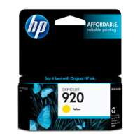 HP 920, CH636AN OEM ink cartridge, yellow